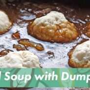 Happy Halloween! Dumplings in Lentil Soup